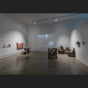 Installation view of Security Blanket at the Rochester Art Center